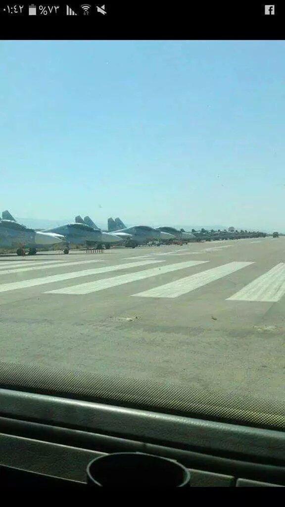 تصویری که از فرودگاه الأسد گرفته شده بود.