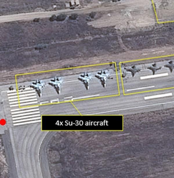 محل تقریبی دوربین و محل هواپیماهای روس