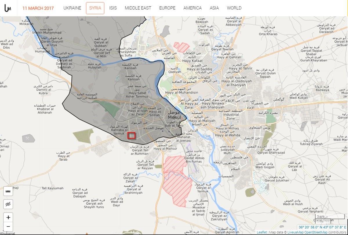 محل فیلم برداری روی نقشهی سایت LiveUAmap