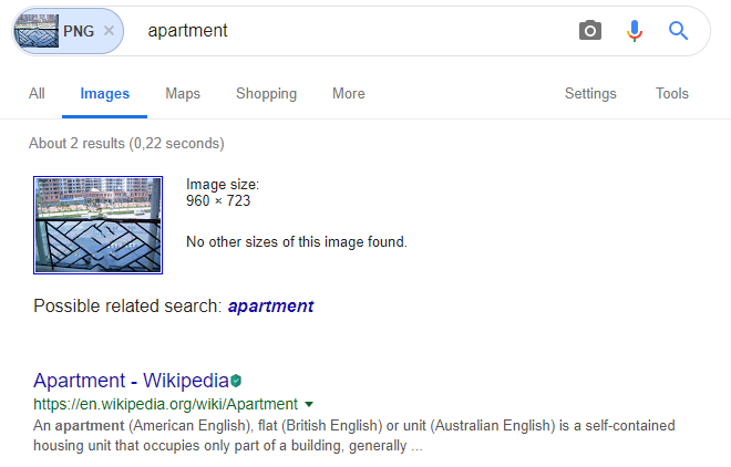 نتیجه جستجوی عکس در گوگل
