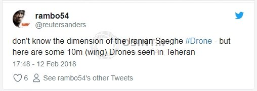 توییت درباره پهاپاد های ایرانی