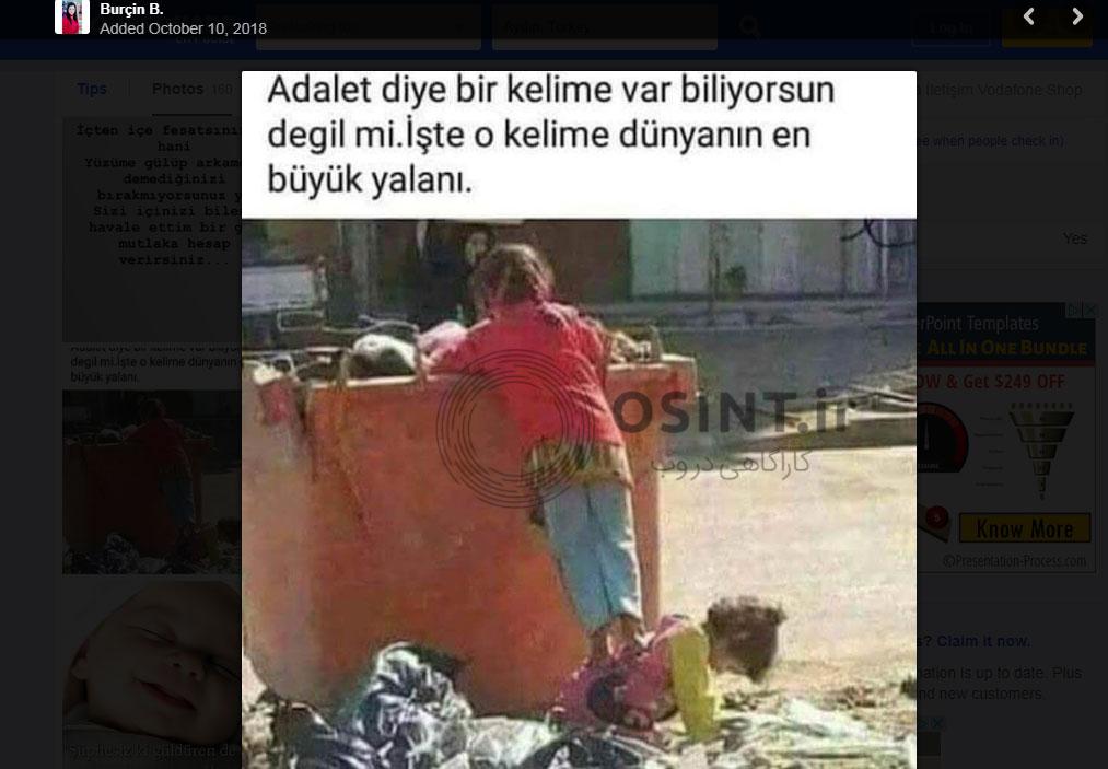 تصویر مورد نظر در یک صفحه ترکی