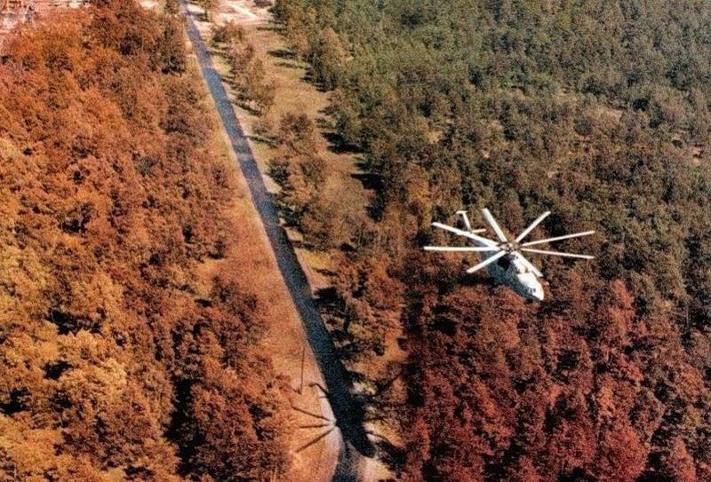 تصویری از جنگل سرخ در زمان فاجعه