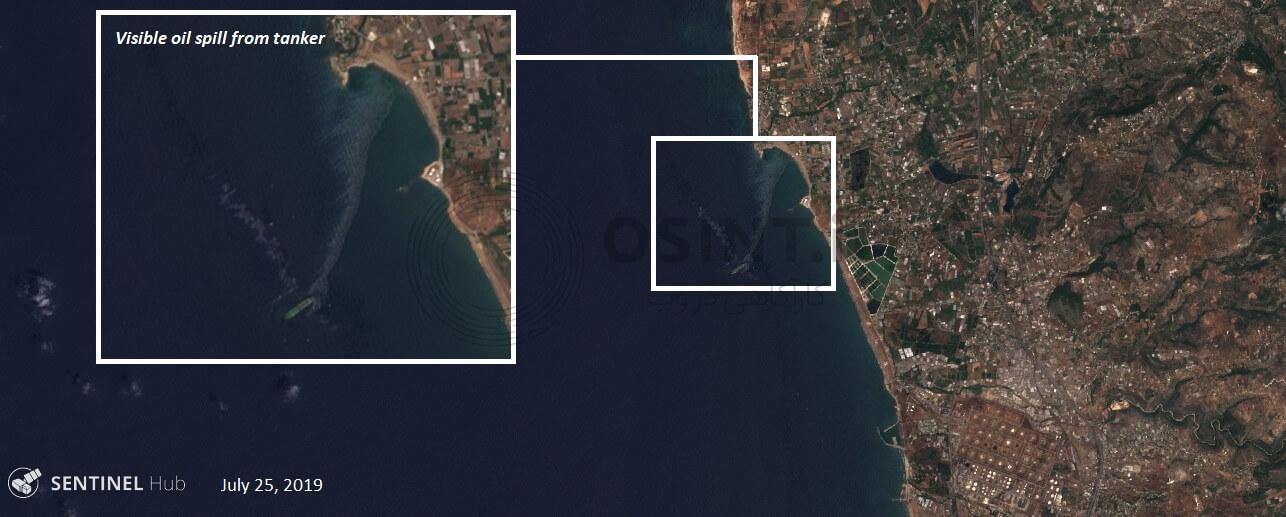 تصاویر ماهواره ای آلودگی نفتی در ساحل سوریه