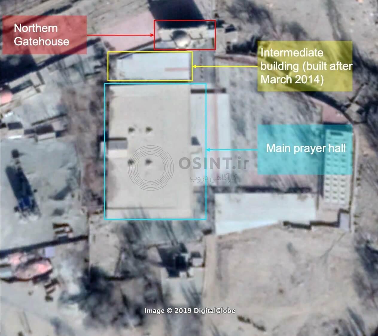 تصویر ماهواره ای مسجد تخریب شده در چین