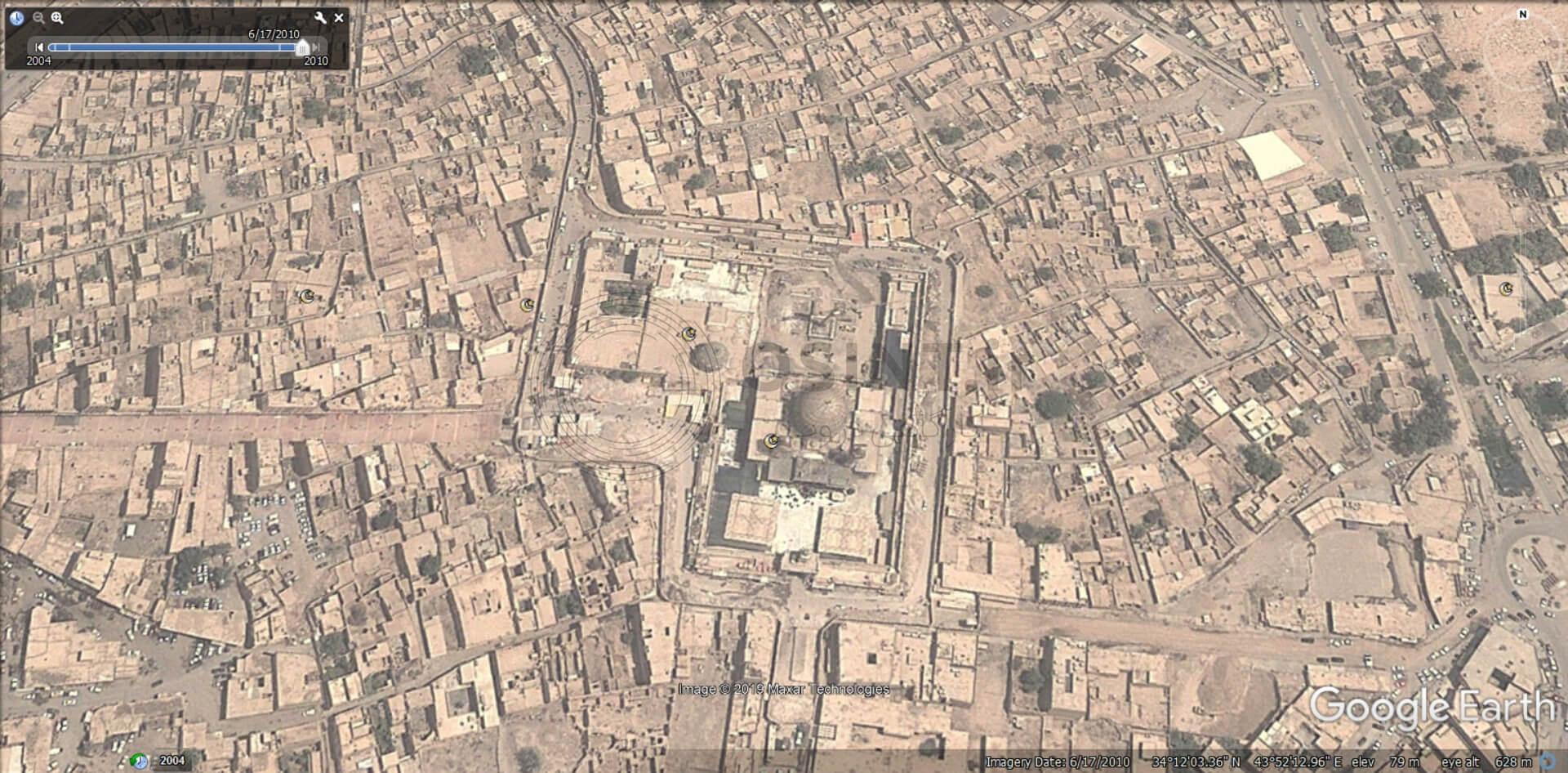تصویر ماهواره ای سامرا در گوگل ارث