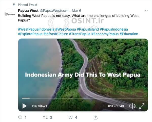 توییت اکانت Papua West