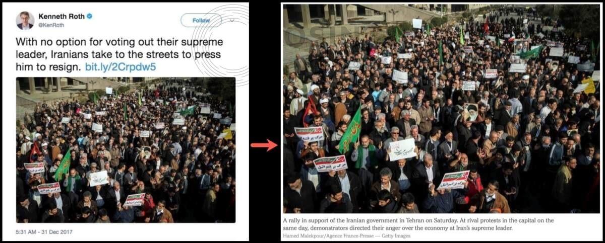 توییت مدیر دیدهبان حقوق بشر درباره اعتراضات ایران
