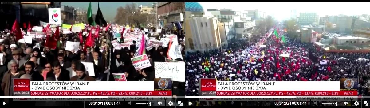 اشتباه شبکه tvp لهستان در پوشش اعتراضات ایران