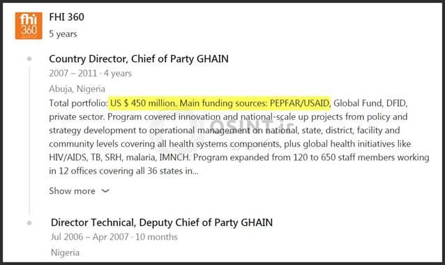 کمک USAID به FHI در نیجریه