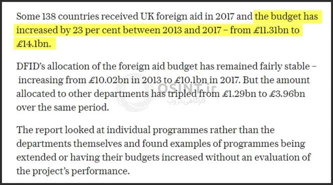 بودجه دولتی UkAid