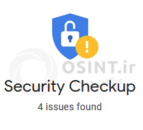 تعداد مشکلات امنیتی اکانتی که در این بررسی استفاده شد.