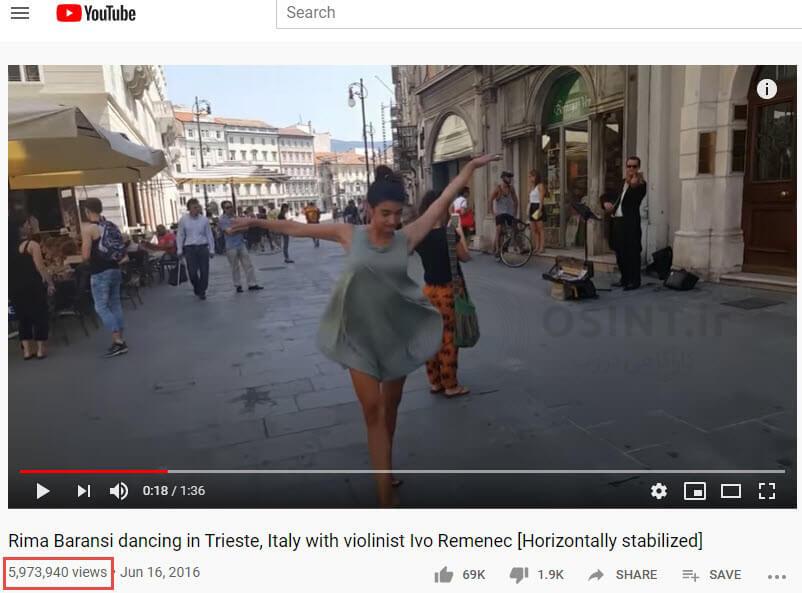 برشی از تصویر رقص ریما برانسی