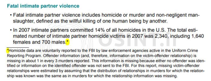 آمار قتلهای شریکان زندگی سال 2007 در آمریکا