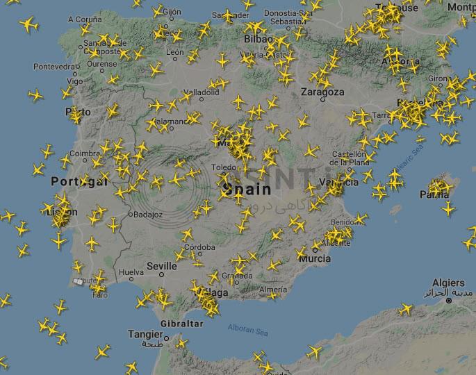 حریم هوایی شبه¬جزیره¬ی ایبری (اسپانیا و پرتغال)